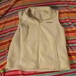 💗Cream Fleece COLUMBIA Vest Size XL💗